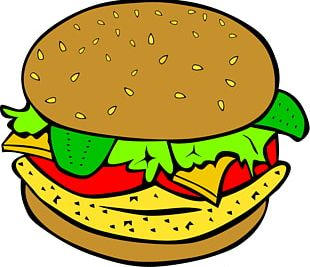 Hamburger Cheeseburger Chicken Sandwich Veggie Burger PNG