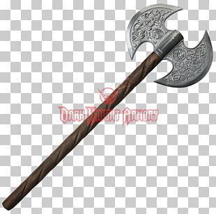 Middle Ages Battle Axe Weapon Dane Axe PNG