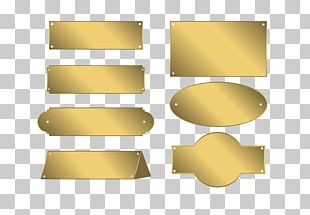 Name Plates & Tags Metal Gold Plating PNG