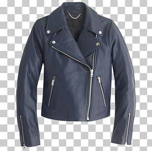 Leather Jacket Coat Blouson PNG