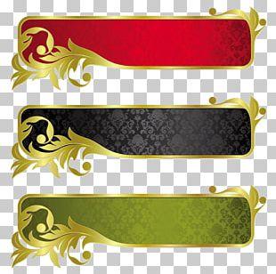 Banner Gold Ribbon PNG