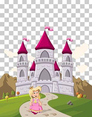Princess Castle Cartoon PNG