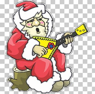 Santa Claus Ded Moroz Christmas Day Guitar PNG