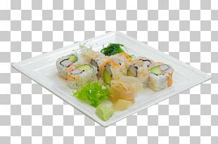 California Roll Sashimi Plate Platter Food PNG
