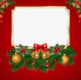 Christmas Greeting Card Border PNG