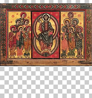 Altar Frontal From La Seu D'Urgell Or Of The Apostles Palau Nacional Middle Ages Romanesque Art Painting PNG