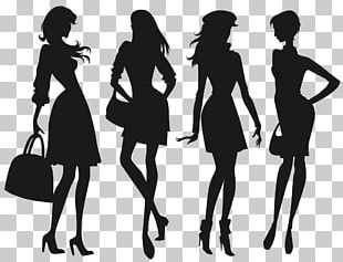 Silhouette Fashion Girl Child PNG