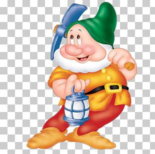 Seven Dwarfs Sneezy Dopey Grumpy Bashful PNG
