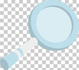 Magnifying Glass Blue Euclidean PNG