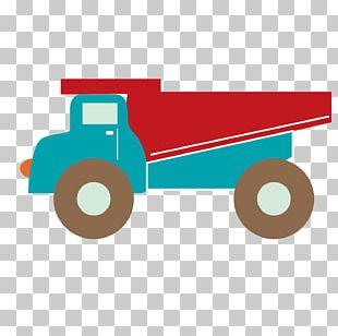 Cartoon Dump Truck Flat Truck PNG
