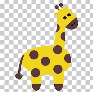 Cute Zoo Animals Giraffe Scrapbooking PNG