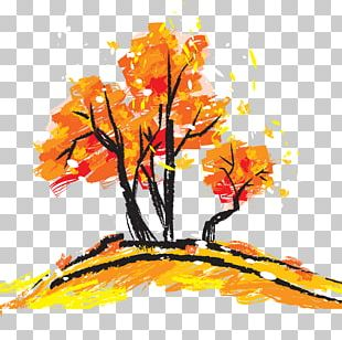 Watercolor Painting Autumn Poster Fukei PNG