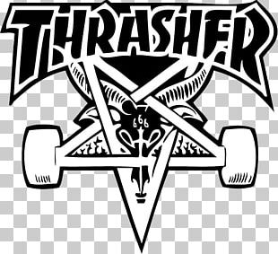 Thrasher Presents Skate And Destroy Sticker Logo Skateboard PNG