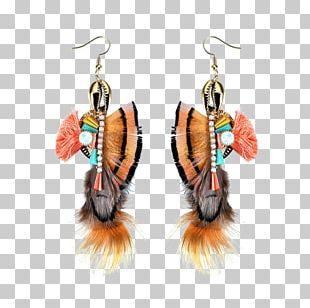 Earring Rhinestone Tassel Jewellery Feather PNG