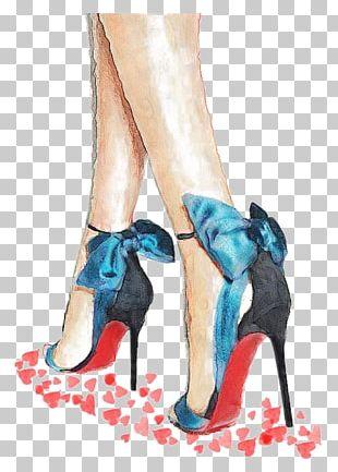 High-heeled Footwear Drawing Shoe Fashion Illustration Illustration PNG