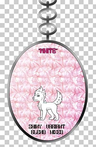 Christmas Ornament Pink M Silver Font PNG