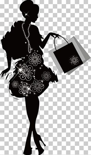 Shopping Fashion Woman Silhouette PNG