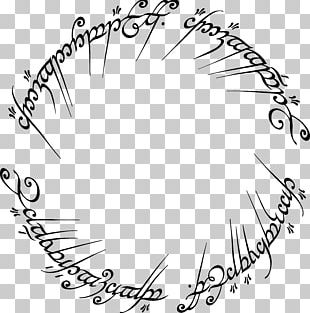 The Lord Of The Rings One Ring Black Speech Etsy PNG