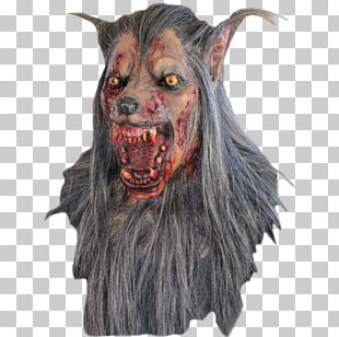 Halloween Costume Latex Mask Werewolf Gray Wolf PNG
