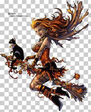 Cat Halloween Boszorkány Animaatio PNG