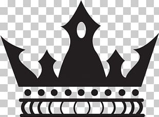 Black And White Imperial Crown PNG