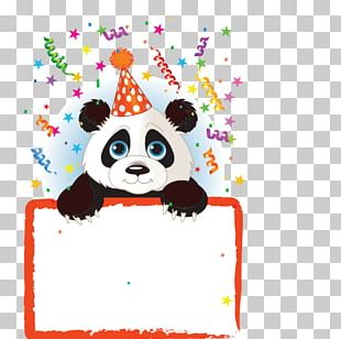 Giant Panda Wedding Invitation Birthday Party PNG