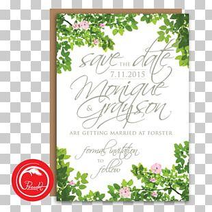 Wedding Invitation Floral Design Save The Date Engagement PNG