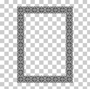 Frame Black And White Area Pattern PNG