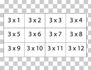 Multiplication Table Flashcard Mathematics Worksheet PNG