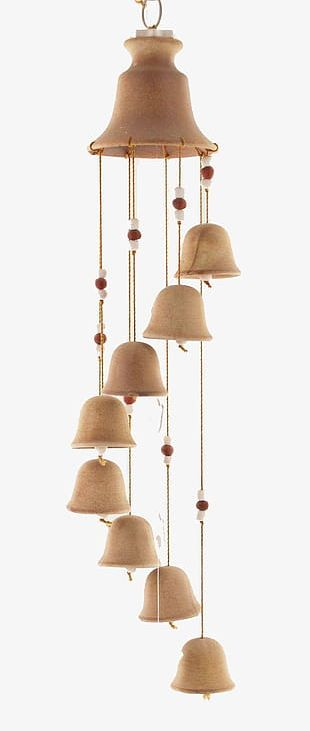 Simple Ceramic Wind Chimes PNG