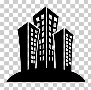 Building Computer Icons Black And White PNG