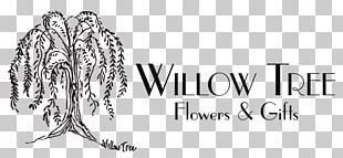 Willow Tree Flowers & Gifts Black Willow Logo Graphics PNG
