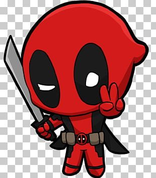 Deadpool Comic Book Chibi Fan Art PNG