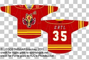 Sports Fan Jersey Calgary Flames Logo T-shirt Uniform PNG