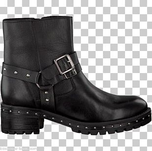 T-shirt Boot Shoe Black Leather PNG