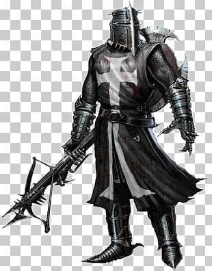 Middle Ages Crusades Black Knight PNG