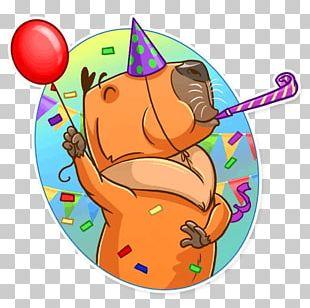 Capybara Sticker Telegram VKontakte PNG