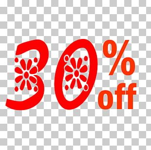 Spring 30% Off Discount Tag. PNG