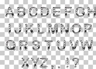 Typeface Metal Letter Font PNG