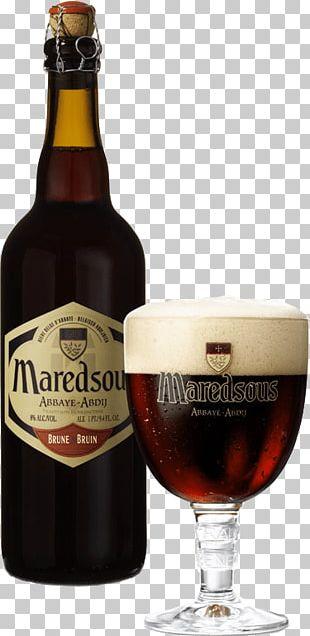 Maredsous Beer Brown Large Bottle PNG