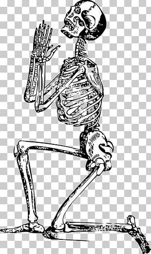 Human Skeleton Prayer PNG