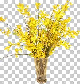 Cut Flowers Floral Design Vase Forsythia PNG