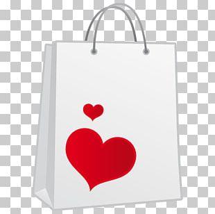 Heart Shopping Bag Font PNG