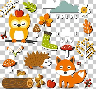 Fall Forest Elements Stickers PNG