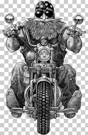 Motorcycle Club Drawing Illustration PNG