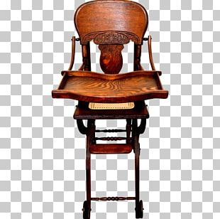 High Chairs & Booster Seats Table Antique Child PNG