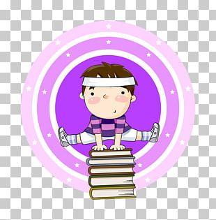Cartoon Gymnastics Illustration PNG