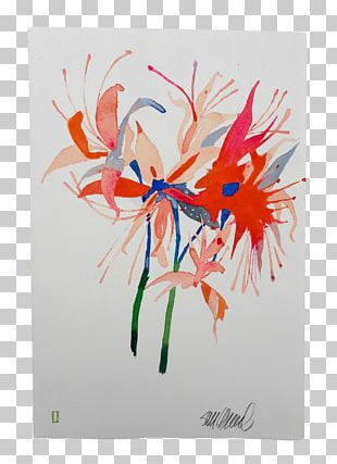 Floral Design Acrylic Paint Painting Art Drawing PNG