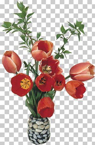 Garden Roses Flower Bouquet Tulip Vase PNG