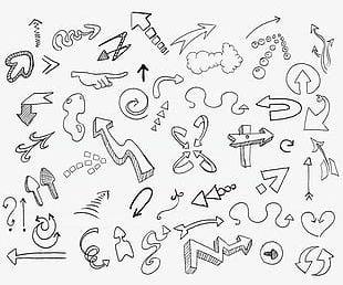 Arrow Sketch PNG